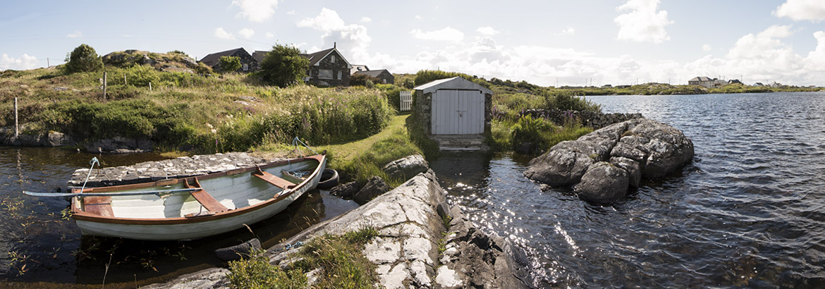 a boat is part of the house rental in connemara